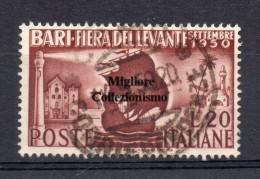 MC Italia Repubblica 1950 Fiera Di Bari  Usato - 1946-.. République