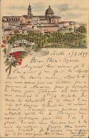 [DC5564] CARTOLINA - RARA - LORETO - SALUTI - Viaggiata 1899 - Old Postcard - Ancona