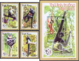 Vietnamese Primates - Vietnam Issue 2014 - Mint NH - Monkeys