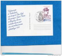 Carte Illustrée  -entier Postal 2,30 De Gaulle -cad 1990 St Pierre - Postal Stationery