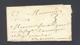 CANTAL 15 SAINT FLOUR  Marque Linéaire ST FLOUR Pour RIOM Taxe 3 Lettre écrite à MURAT Le 18 Juillet 1747 TB Ind 11 - Postmark Collection (Covers)