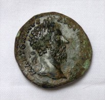 Sesterce Marc Aurele 169 Rome Ric 980 Poids 23.9 Gr - 3. The Anthonines (96 AD To 192 AD)