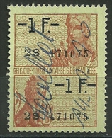 BELGIQUE : FISCAL  -  1F/1F - Stamps