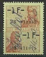 BELGIQUE : FISCAL  -  1F/1F - Revenue Stamps