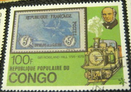 Congo Republic 1979 The 100th Anniversary Of The Death Of Sir Rowland Hill 100f - Used - Oblitérés