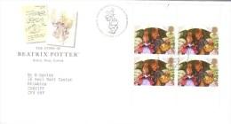 GB  4v  FDC  -   The Story Of Beatrix Potter  -  Premier Jour - Fairy Tales, Popular Stories & Legends