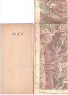 CARTE - TOPOGRAPHIQUE - ALLOS - SAINT MARTIN D´ENTRAUNES - BEAUVEZER - Cartes Topographiques