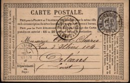 FRANCE - Carte Postale Avec Un 15 C. Oblitéré De Toulouse Pour Orléans - 1876-1898 Sage (Type II)