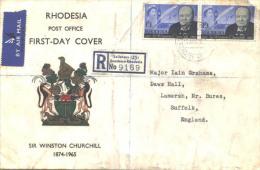 RHODESIA  SOUTHERN R.  SALISBURY  Recomm.letter - CHURCHILL - FDC - 1965 - Sir Winston Churchill