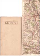CARTE - TOPOGRAPHIQUE - MONTELIMAR - CHATEAUNEUF DE RANDON - LE PUY - YSSINGEAUX - TOURNON - ROMANS  -VALENCE. - Cartes Topographiques