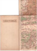 CARTE - TOPOGRAPHIQUE - GRENOBLE - LA TOUR DU PIN - BELLEY - CHAMBERY - ALLEVARD - Cartes Topographiques