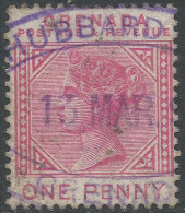 Grenada. 1887 QV, Postage & Revenue. 1d Used SG 40. - Grenada (...-1974)