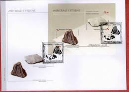 MINERALS AND ROCKS ( Croatia FDC ) Minéraux Et Roches Geology Geologie Geologia Mineral Minerales Minerali - Minerals