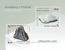 MINERALS AND ROCKS ( Croatia Bloc MNH** ) Minéraux Et Roches Geology Geologie Geologia Mineral Minerales Minerali - Minerals