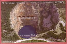RED LAKE  ( Croatian Bloc MNH**  ) Geological Phenomenon Phénomène Géologique Geology Geologie Geologia - Minerals