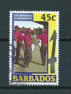 2001 Barbados 45 Cent 35th Anniversary Of Independence Used/gebruikt/oblitere - Barbados (1966-...)