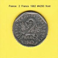 FRANCE   2  FRANCS  1982  (KM # 942.1) - France