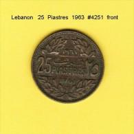 LEBANON   25  PIASTRES  1961  (KM # 16.2) - Lebanon