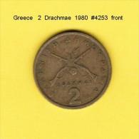 GREECE  2  DRACHMAE  1980  (KM # 117) - Greece