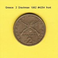 GREECE  2  DRACHMAE  1982  (KM # 130) - Greece