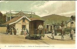 CPA SAINT-ETIENNE Station De Tramways De Gérardmer 10935 - Saint Etienne De Remiremont