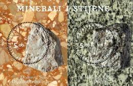 MINERALS AND ROCKS ( Croatian Bloc MNH** ) Minéraux Et Roches Geology Geologie Geologia Mineral Minerales Minerali - Minerals