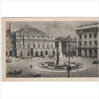 ITLATP1326C-LFTD3171TTSC. TARJETA POSTAL DE ITALIA.Calles De  MILAN.Plaza,Monumento,jardines,edificios.coches. - Postales