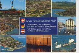 SCHWEIZ - DEUTSCHLAND - ÖSTERREICH: BODENSEE - Schwäbisches Meer - Postcards