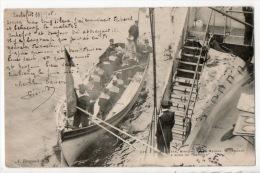 """17 - ROCHEFORT LE 24/01/1905 . M. PELLETAN, MINISTRE DE LA MARINE, SE RENDANT À BORD DU """" SUFEREN """" - Réf. N°3452 - - Personnages"""