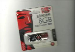 CLE  USB   KINGSTOM   8 GB  DATA TRAVELER  101   NEUVE   A  SAISIR   ENVOI   OFFERT - Technical