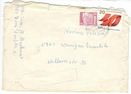 GERMANIA DDR - GERMANY DDR - ALLEMANDE DDR - 1985 - Berlin Leninplatz + 40 Jahre FDGB - Damaged Envelope - DDR