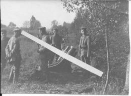Minenwerfer Lourd Et Ses Servants Du 6ème Bataillon De Chasseurs Wurtembourgeois Wurtemberg 1 Photo 14-18 Ww1 WWI Wk - War, Military