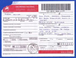ENCOMENDA NACIONAL -- CACHET - PORTALEGRE . 7300, 2014.10.03 - Colis Postaux