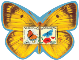 az1060 Azerbaijan 2014 Butterflies s/s