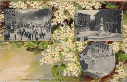 [DC5569] CARTOLINA - RARA - CARRARA - RISERVATA A S. MARTINI - VARIE PIAZZE - Viaggiata - Old Postcard - Massa