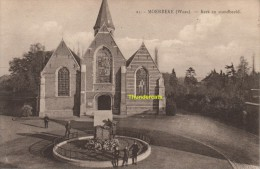 CPA MOERBEKE WAES KERK EN STANDBEELD - Moerbeke-Waas