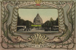 CPA GOEDENDAG UIT SCHERPENHEUVEL UN BONJOUR DE MONTAIGU - Scherpenheuvel-Zichem