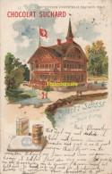 CPA LITHO PUBLICITE CHOCOLAT SUCHARD EXPOSITION UNIVERSELLE DE PARIS 1900 CHALET SUISSE - Expositions