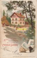 CPA LITHO PUBLICITE CHOCOLAT SUCHARD EXPOSITION UNIVERSELLE DE PARIS 1900 MAISON OUVRIERE EXPOSEE A VINCENNES - Expositions