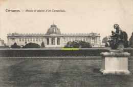 CPA TERVUEREN  MUSEE ET STATUE D'UN CONGOLAIS - Tervuren
