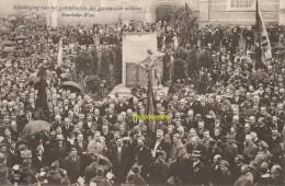 CPA INHULDIGING VAN HET GEDENKTEEKEN DER GESNEUVELDE SOLDATEN MOERBEKE WAES - Moerbeke-Waas