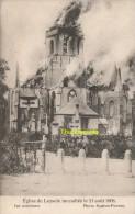 CPA  EGLISE DE LEYSELE INCENDIEE LE 21 AOUT 1908 VUE EXTERIEURE PHOTO MATTON PROVEN - Alveringem