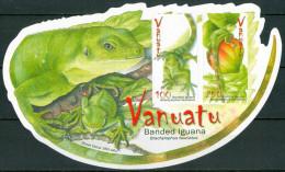 2007 Vanuatu Iguana Rettili Reptiles Block MNH** -B104 - Vanuatu (1980-...)
