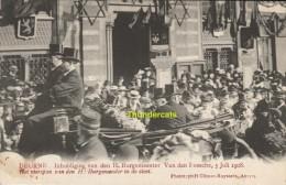 CPA DEURNE INHULDIGING VAN DE H BURGEMEESTER VAN DEN BOSSCHE 5 JULI 1908 EDIT H CLIMAN RUYSSERS ANVERS - Altri