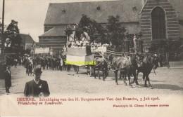 CPA DEURNE INHULDIGING VAN DE H BURGEMEESTER VAN DEN BOSSCHE 5 JULI 1908 EDIT H CLIMAN RUYSSERS ANVERS - Belgium