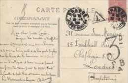 Postcard. Grasse. Hermitage De Saint-Christoph.  Sent To London. Postage Due.  S-1453 - Postage Due