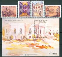 1996 Macao Herculano Estorninho Quadri Paintings Peintures Set + Block MNH** -B175 - 1999-... Regione Amministrativa Speciale Della Cina