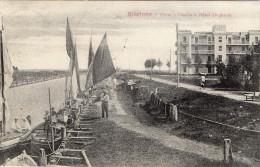 CARTOLINA D'EPOCA DI  RICCIONE PORTO-CANALE E HOTEL UNGHERIA COM'ERAINIZI 900 RARA!! VIAGGIATA 1913 - Rimini