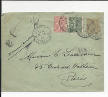 1904 - ENVELOPPE ENTIER TYPE MOUCHON RECOMMANDEE Avec COMPLEMENT SEMEUSE - 1877-1920: Période Semi Moderne
