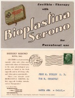 Bioplastina Serono For Parenteral Use - Lecithin Therapy - Advertising